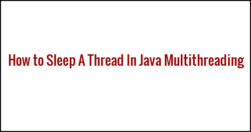 java sleep