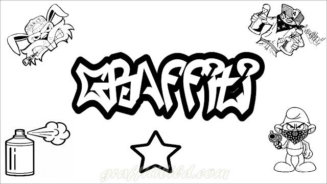 Ausmalbilder Graffiti gratis, malvorlagen graffiti,