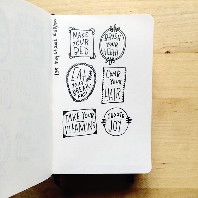 sketchbook conversations, sketchbooks, Moleskine, hand lettering, micron pen, inspiration, Anika Lacerte