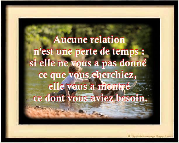 Citation en image sur les relations