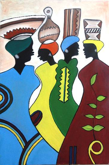 African Sisters by Nupur Sinha (part of her portfolio on www.indiaart.com)