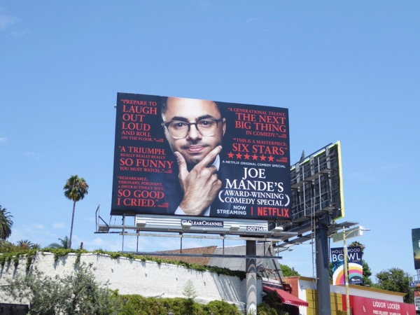 Joe Mande comedy special billboard