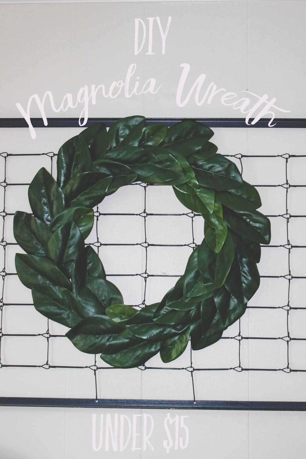 diy magnolia wreath under 15