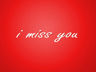 i miss you image with red background