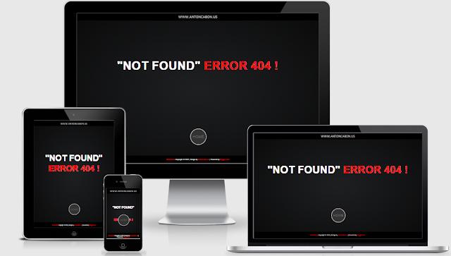 Responsive Error Page 404