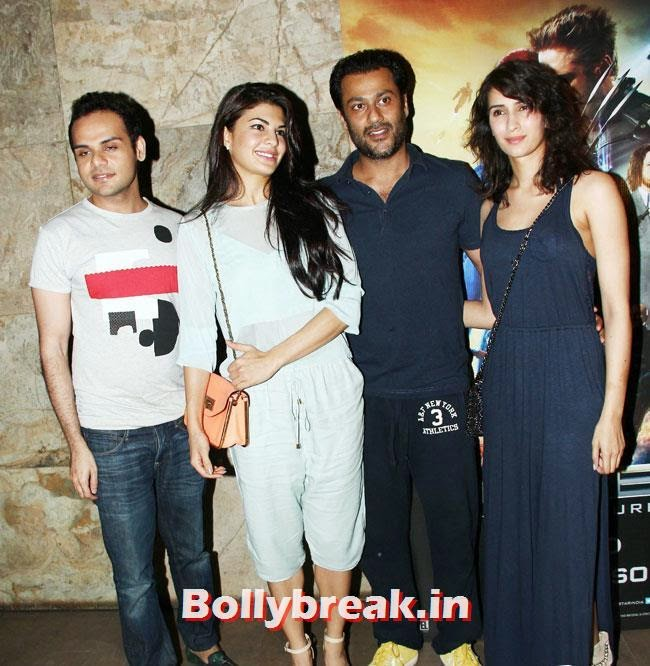 Jacqueline Fernandez and Abhishek Kapoor, Jacqueline Fernandez, Suzanne Roshan at Special Screening of X Men Days of Future Past