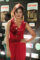 Videesha in Spicy Floor Length Red Sleeveless Gown at IIFA Utsavam Awards 2017  Day 2  Exclusive 39.JPG