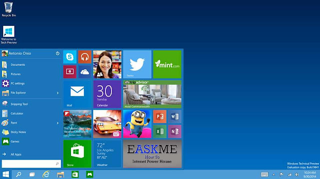 How to Upgarde to Windows 10 for Free : eAskme