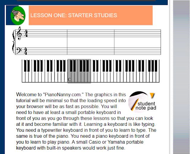 PianoNanny este unul dintre acele website-uri rare, care ofera lectiile de pian cele mai detaliate și total gratuite