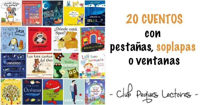 libros infantiles cuentos con pestañas, solapas, ventanas, participación niño