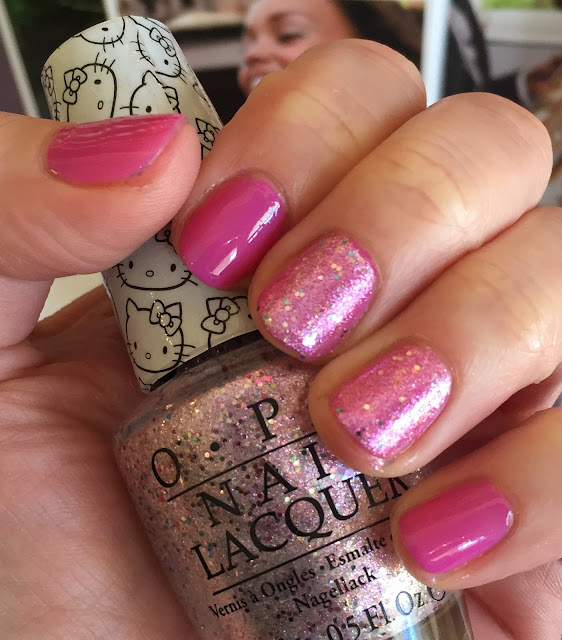 OPI, OPI Hello Kitty nail polish collection, OPI Super Cute in Pink, OPI Charmmy & Sugar, nails, nail polish, nail lacquer, nail varnish, manicure, #ManiMonday
