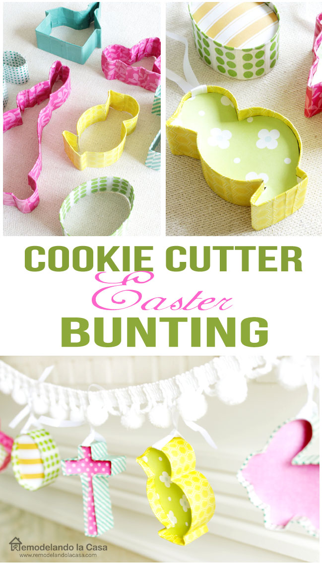 How to make a Easter garland with cookie cutters