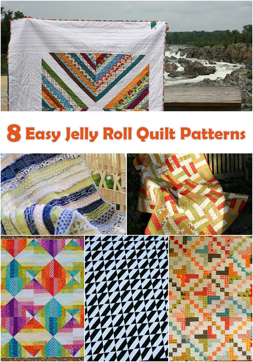 8 Easy Jelly Roll Quilt Patterns