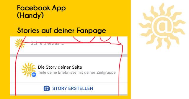 Facebook Stories jetzt auf der Fanpage