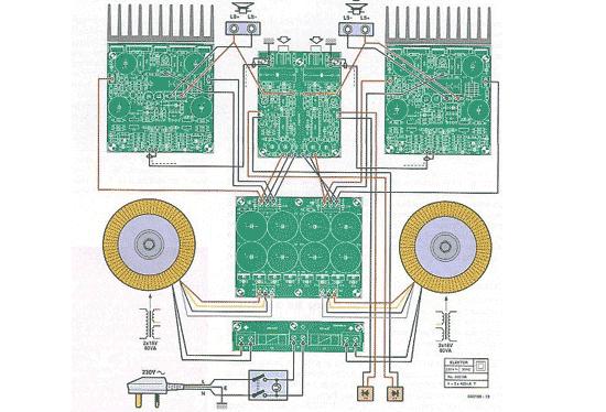 High End Power Amplifier Wiring Circuit Electronic Circuit
