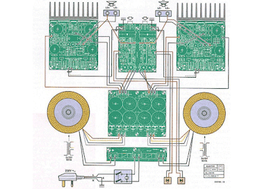 High-End Power Amplifier Wiring Diagram