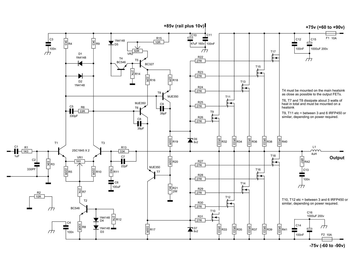 600 Watt Mosfet Power Amplifier With Pcb Diy Circuit 25 Diagram