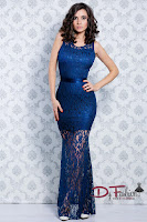 rochie-lunga-de-ocazie-Dark Blue Satin