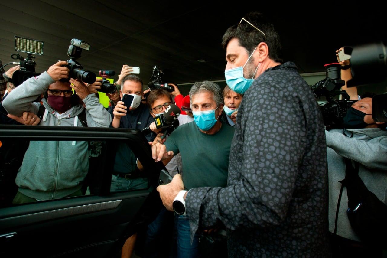 Jorge Messi en la reunión con Bartomeu
