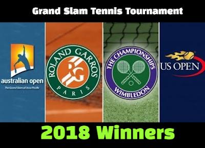 Tennis, tournament, grand slam, Australian open, French Open, Roland Garros, Wimbledon championship open, US Open Tennis, Winners, Champions, List, 2018.