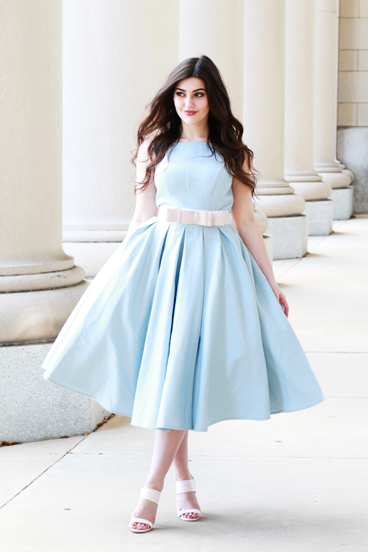 Pale Blue with a Bow