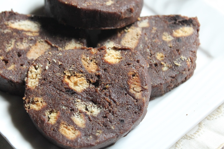 Recipe Collection No Bake Chocolate Biscuit Log Recipe