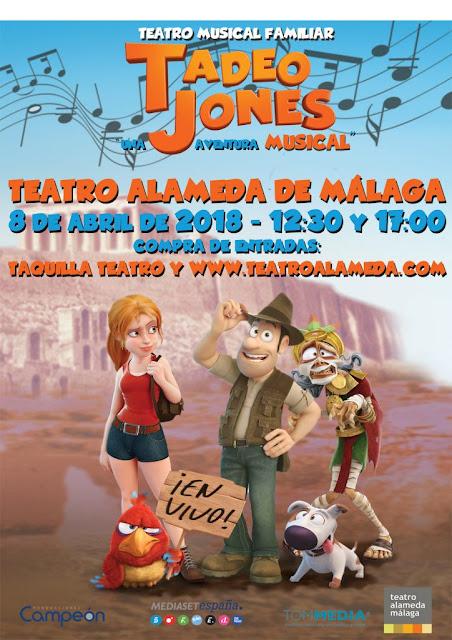 """Musical """"Tadeo Jones"""" llega a Málaga"""