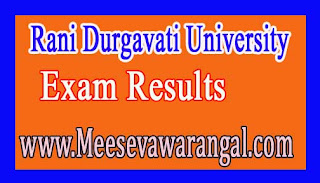 Rani Durgavati University Bachelor of Physical Education IInd Sem 2016 Exam Results