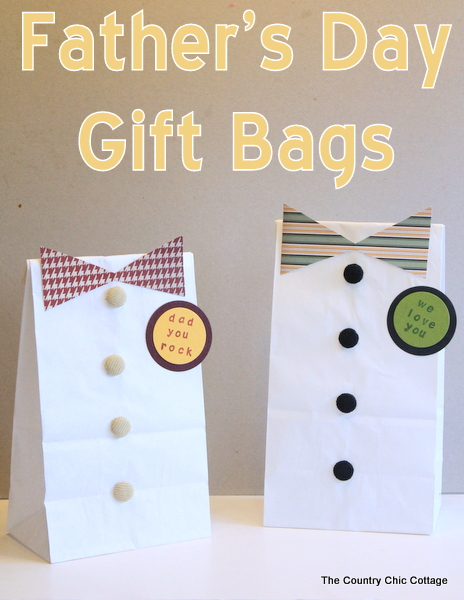 Diy father s day gift bags plus more dad and grad ideas