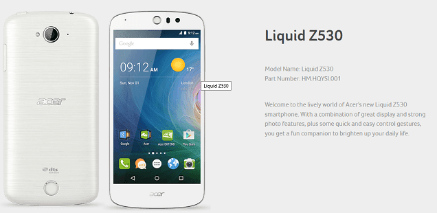 Stock Firmware Acer Liquid Z530