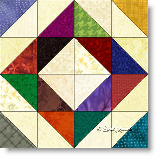 Depression quilt block image © Wendy Russell