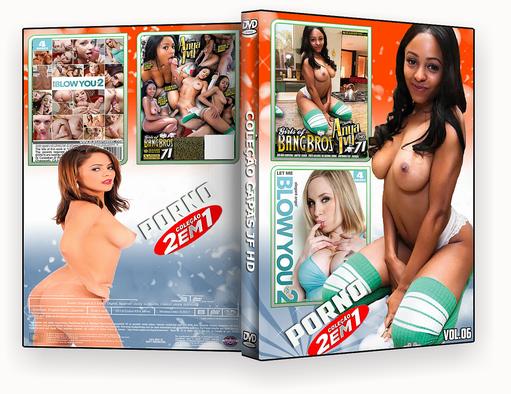 CAPA DVD – COLEÇÃO PORNO DVD-R VOL 06 2018 DVD-R