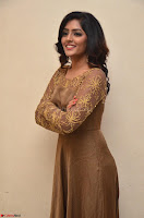 Eesha looks super cute in Beig Anarkali Dress at Maya Mall pre release function ~ Celebrities Exclusive Galleries 015.JPG