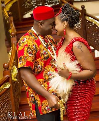 Clinic Matters star Nkechi Emmanuel AKA Nurse Titi and Ambrose Amara traditional wedding photos