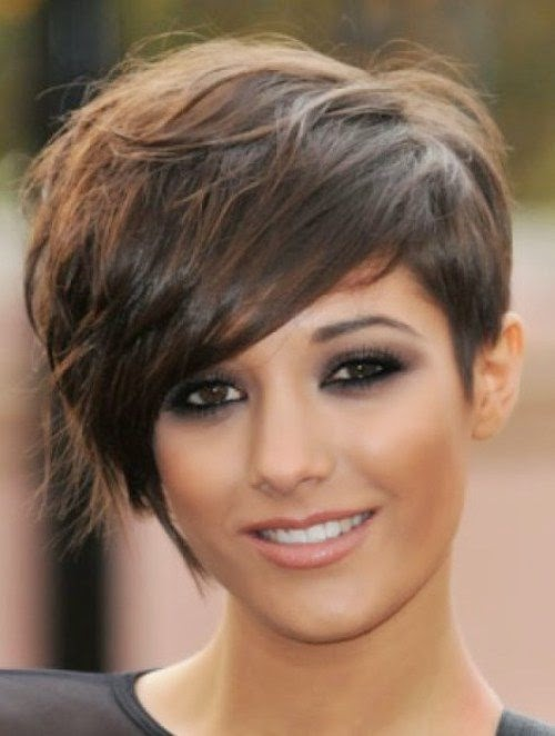 Latest Short Hairstyles For Round Faces 2014 New Hairstyles 2015