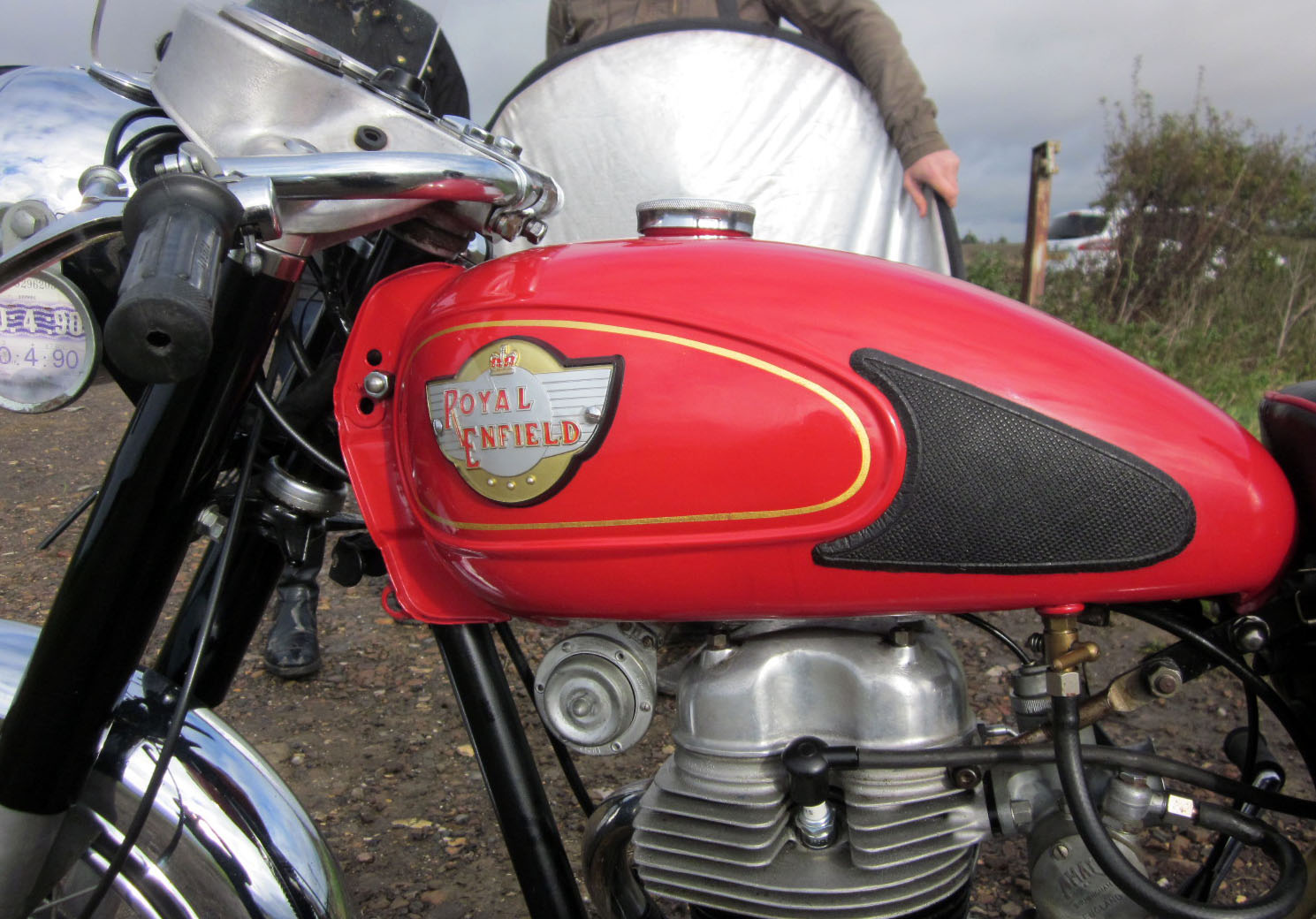 Motorcycle gas tank.