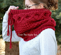 Over The Apple Tree Etsy Shop, Crochet Cabled Cowl