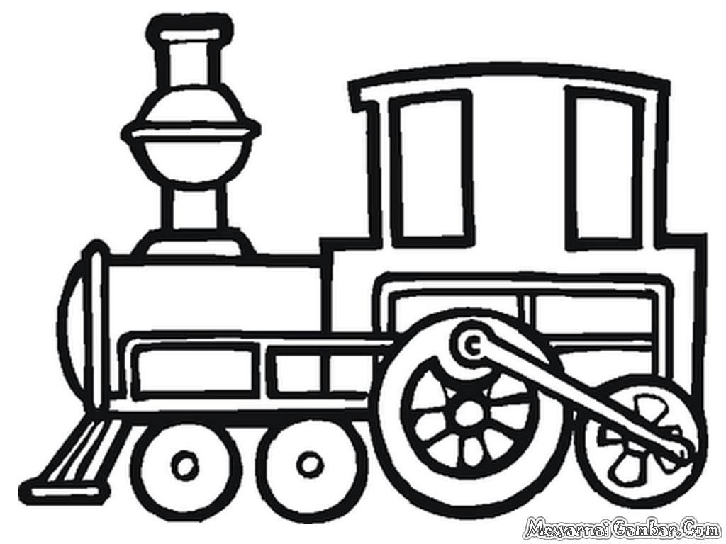 Gambar Bimbel Sanggar Mewarna Kiky Mewarnai Kereta Api Gambar Di