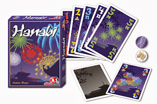 Hanabi fireworks game box and cards