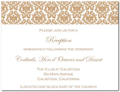 Wedding Reception Invitations Templates orderecigsjuiceinfo