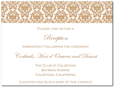 wedding reception invitations templates | wblqual, Invitation templates