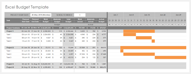 Excel Budget Template Engineering Management