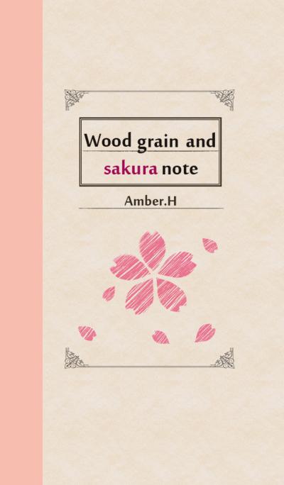 Wood grain and SAKURA note No1