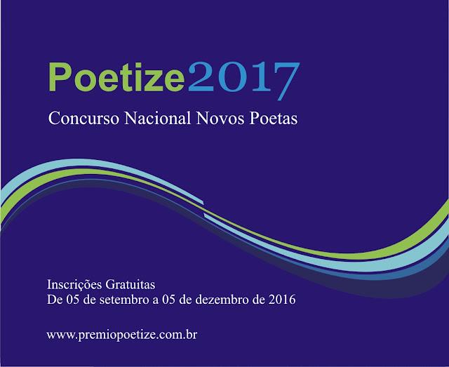 Concurso Nacional Novos Poetas. Prêmio Poetize 2017
