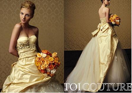Gold Bridal Gown Collection