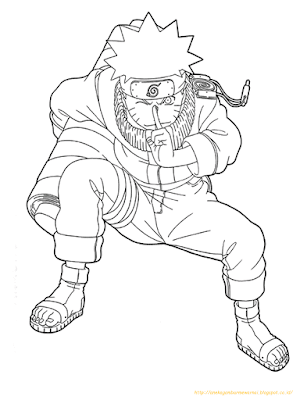 Mewarnai Gambar Naruto - 6