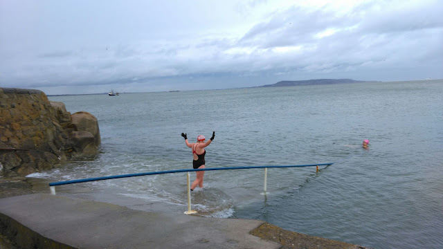 Seapoint Dublin swimming winter