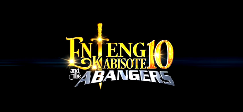 Enteng Kabisote 10 and the Abangers 2016 movie title card directed by Marlon Rivera and Tony Reyes starring Vic Sotto, Oyo Boy Sotto, Alonzo Muhlach, Jose Manalo, Wally Bayola, and Paolo Ballesteros showing November 30, 2016