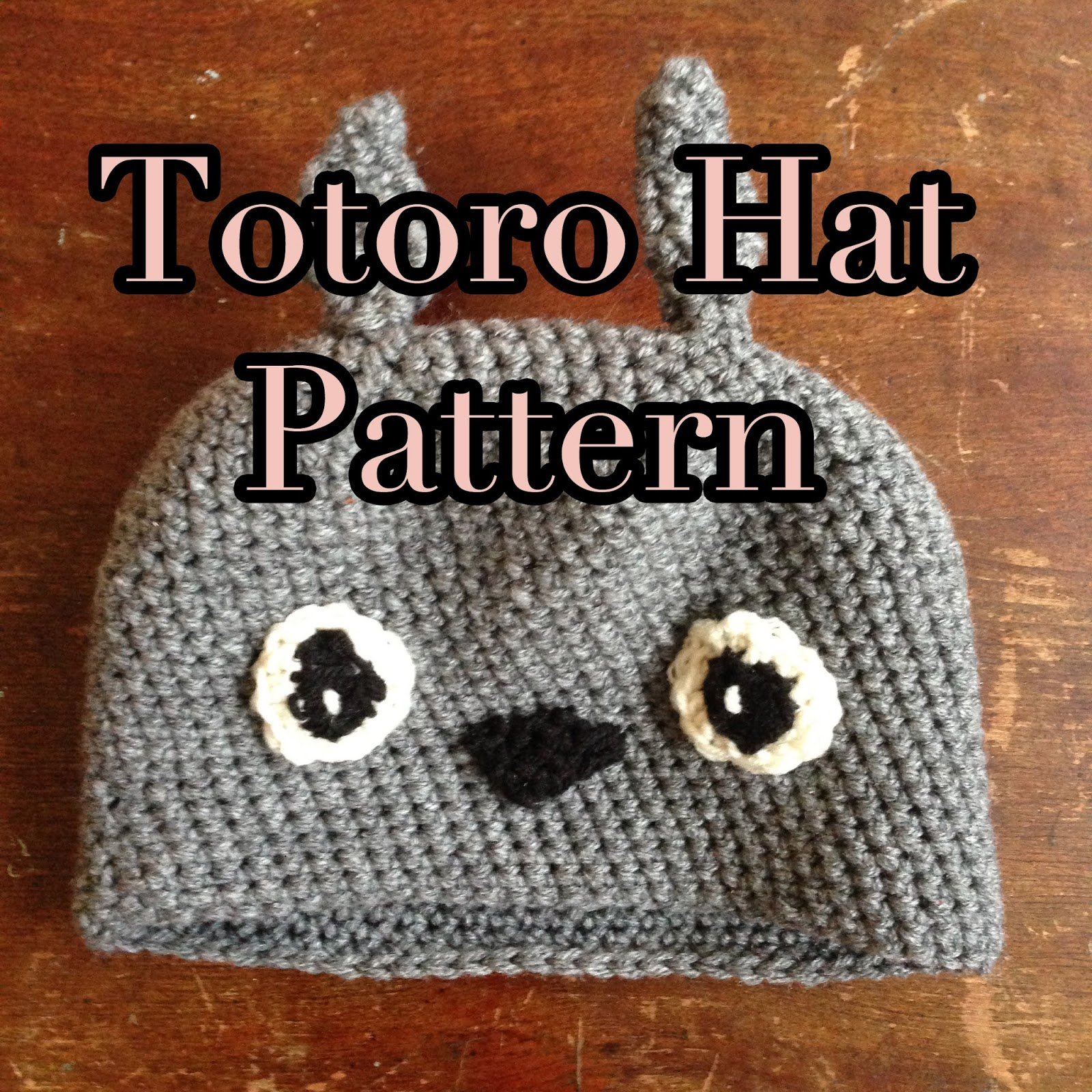 Kitty Adventures  Crochet Totoro Hat a30ff42d769
