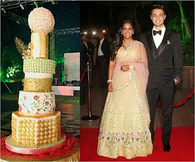 Arpita Khan wedding cake